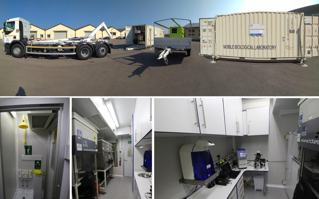 IBATECH entrega un nuevo laboratorio desplegable NBQ a la OTAN