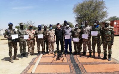 IBATECH suministra drones y formación en su manejo a las fuerzas de seguridad de Chad.